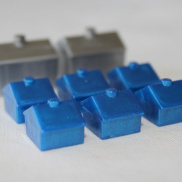 Blue Monopoly Houses and Apartments